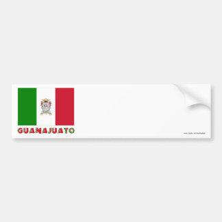 Bandera oficiosa de Guanajuato Etiqueta De Parachoque
