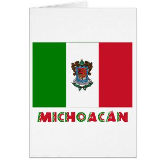 Bandera oficiosa de Michoacán Tarjeta De Felicitación