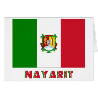 Bandera oficiosa de Nayarit Tarjeta De Felicitación