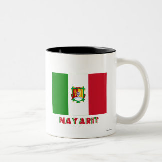 Bandera oficiosa de Nayarit Taza Dos Tonos
