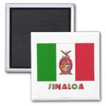 Bandera oficiosa de Sinaloa Imán Cuadrado