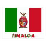 Bandera oficiosa de Sinaloa Tarjeta Postal