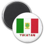 Bandera oficiosa de Yucatán Imán Para Frigorífico
