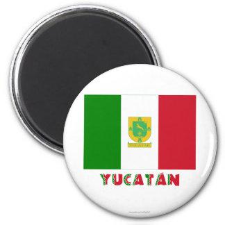 Bandera oficiosa de Yucatán Imán Redondo 5 Cm