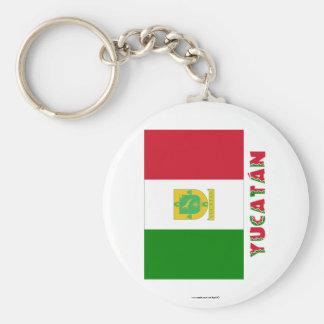 Bandera oficiosa de Yucatán Llaveros Personalizados