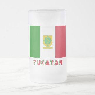 Bandera oficiosa de Yucatán Taza De Cristal