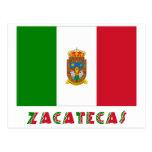 Bandera oficiosa de Zacatecas Postales