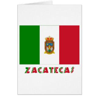 Bandera oficiosa de Zacatecas Tarjeta De Felicitación