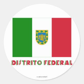Bandera oficiosa federal de Distrito Pegatina Redonda