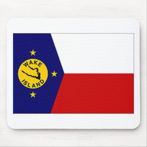 Bandera oficiosa local de la isla Wake Alfombrillas De Ratón