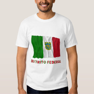 Bandera oficiosa que agita federal de Distrito Poleras