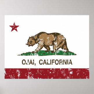 Bandera Ojai de la república de California Posters