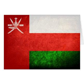Bandera omaní tarjeta pequeña