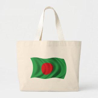Bandera ondulada de Bangladesh Bolsa Lienzo