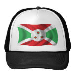 Bandera ondulada de Burundi Gorra