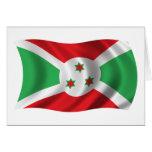 Bandera ondulada de Burundi Tarjetón