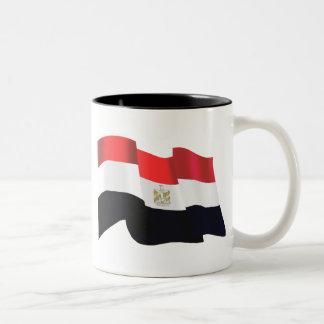 Bandera ondulada de Egipto - Egipto está libre Taza Dos Tonos