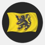 Bandera ondulada de Flandes Etiquetas