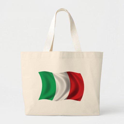 Bandera ondulada de Italia Bolsas De Mano
