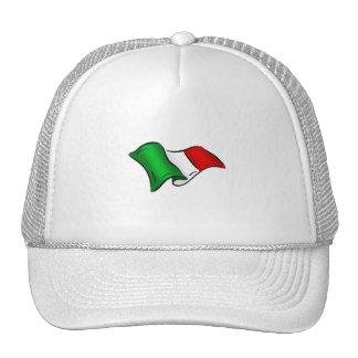 Bandera ondulada de Italia de Italia para los ital Gorros Bordados