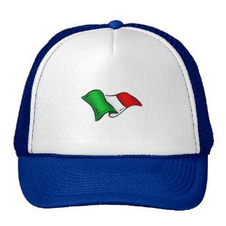 Bandera ondulada de Italia de Italia para los ital Gorra