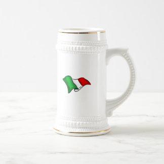 Bandera ondulada de Italia de Italia para los ital Tazas De Café