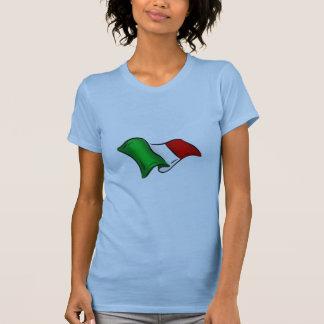 Bandera ondulada de Italia de Italia para los Camisetas