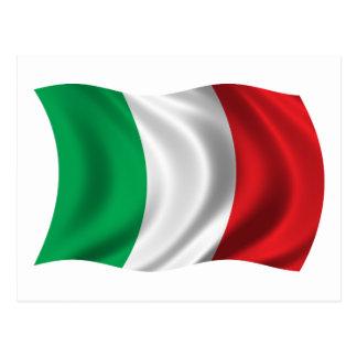 Bandera ondulada de Italia Postales