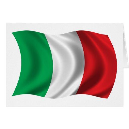 Bandera ondulada de Italia Tarjetón