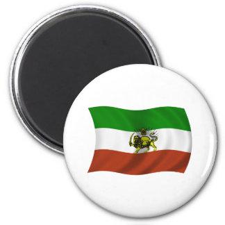 Bandera ondulada de Persia Imán Redondo 5 Cm