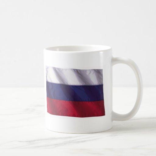 Bandera ondulada de Rusia Taza