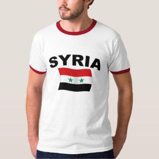Bandera ondulada de Siria - letras negras Polera