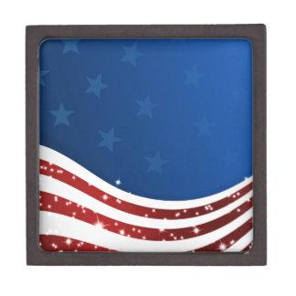 Bandera ondulada de USA/SAD, estrellas, juegos de  Caja De Regalo De Calidad