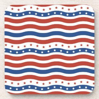 Bandera ondulada patriótica de la libertad de las  posavasos de bebida