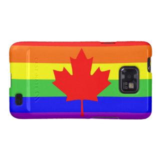 bandera orgullosa gay del arco iris del país de samsung galaxy SII carcasa