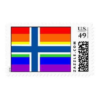 bandera orgullosa gay del arco iris del país de sellos