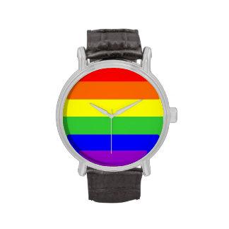 bandera orgullosa gay del arco iris relojes