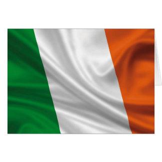 Bandera orgullosa y patriótica de Irlanda Tarjetón