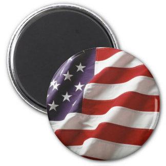 Bandera orgullosa y patriótica de los E.E.U.U. Imán Redondo 5 Cm