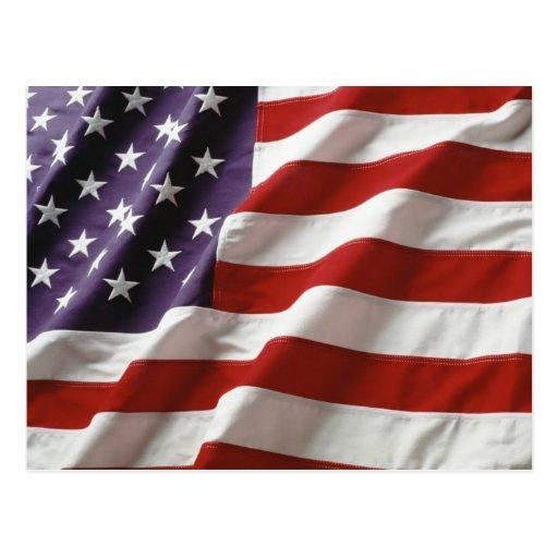 Bandera orgullosa y patriótica de los E.E.U.U. Tarjeta Postal