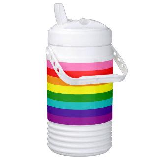 Bandera original del arco iris del orgullo gay de enfriador de bebida igloo