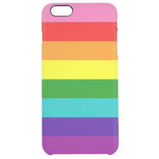 Bandera original del arco iris del orgullo gay de funda clearly™ deflector para iPhone 6 plus de unc