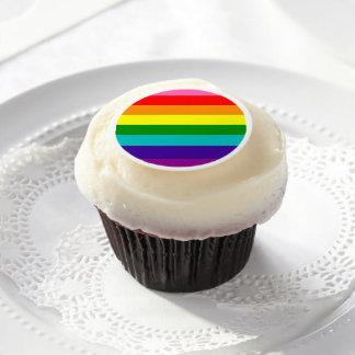 Bandera original del arco iris del orgullo gay de láminas de azúcar para galletas