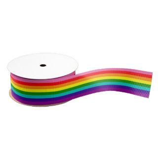 Bandera original del arco iris del orgullo gay de lazo de tela gruesa