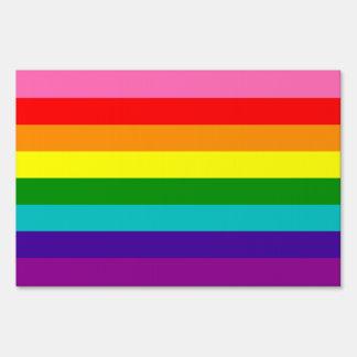 Bandera original del arco iris del orgullo gay de letrero