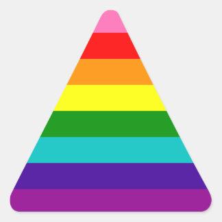 Bandera original del arco iris del orgullo gay de pegatina triangular