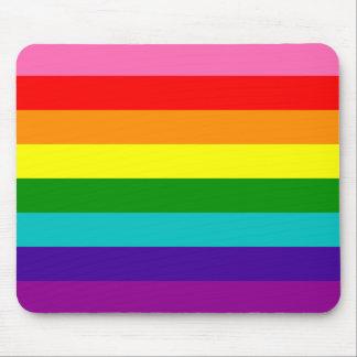 Bandera original del arco iris del orgullo gay de tapetes de ratón