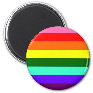 Bandera original del orgullo gay imán redondo 5 cm