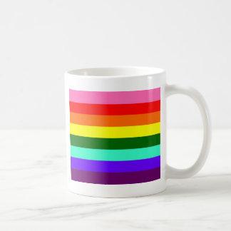 Bandera original del orgullo gay taza básica blanca