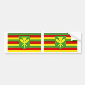 Bandera original Kanaka Maoli de Hawaii Pegatina De Parachoque